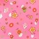 Розовый с цветами