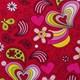 Красный с сердечками