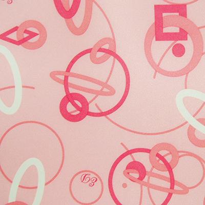 Розовый с кольцами