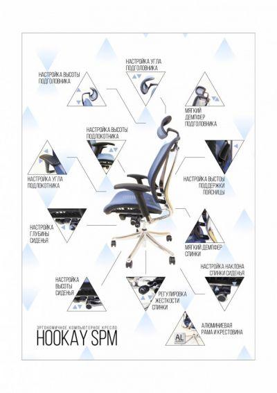 Эргономичное компьютерное кресло Comf-pro Hookay SPM