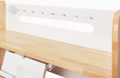Детская парта Mealux Premium Oxford Wood Lite с полкой