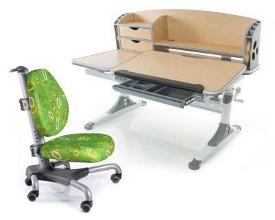 Комплект Mealux Парта Aivengo - L с креслом Nobel и прозрачной накладкой на парту 65х45