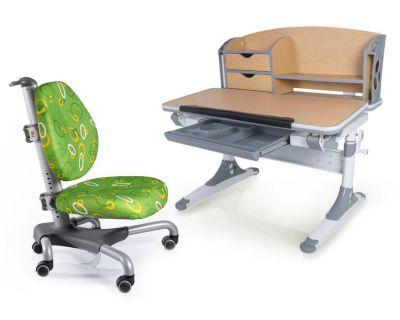 Комплект Mealux Парта Aivengo - M с креслом Nobel и прозрачной накладкой на парту 65х45