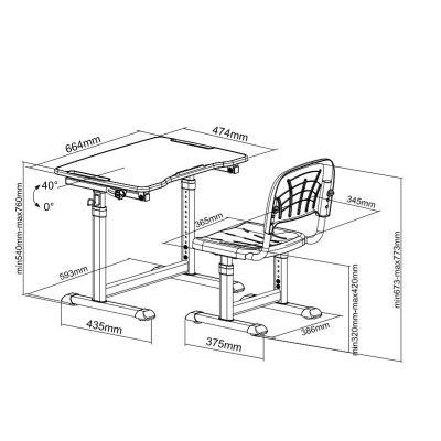 Комплект Cubby парта и стул трансформеры Olea