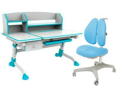 Комплект FunDesk Парта-трансформер Amare II с ящиком с креслом Bello II и прозрачной накладкой на парту 65х45