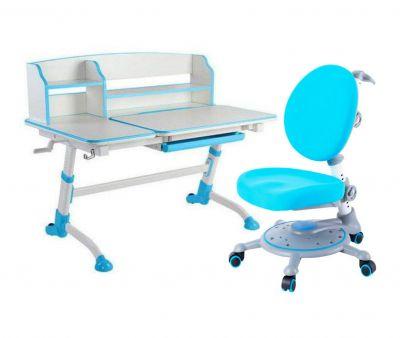 Комплект FunDesk Парта-трансформер Amare II с креслом SST1 и прозрачной накладкой на парту 65х45
