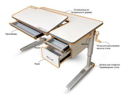 Детский стол Mealux Sherwood XL с ящиком