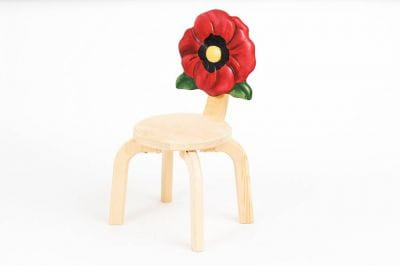 Детский стульчик Цветочек Мак