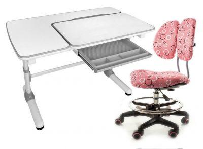 Комплект Mealux Парта Darwin с креслом Simba и прозрачной накладкой на парту 65х45