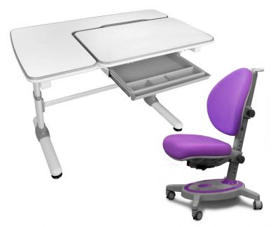 Комплект Mealux Парта Darwin с креслом Stanford и прозрачной накладкой на парту 65х45