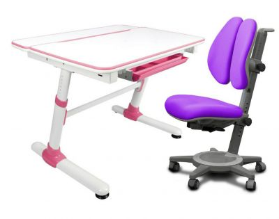 Комплект Mealux Парта трансформер Duke с креслом Cambridge Duo и прозрачной накладкой на парту 65х45