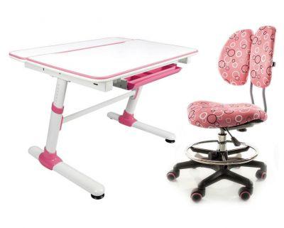 Комплект Mealux Парта трансформер Duke с креслом Simba и прозрачной накладкой на парту 65х45