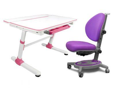 Комплект Mealux Парта трансформер Duke с креслом Stanford и прозрачной накладкой на парту 65х45