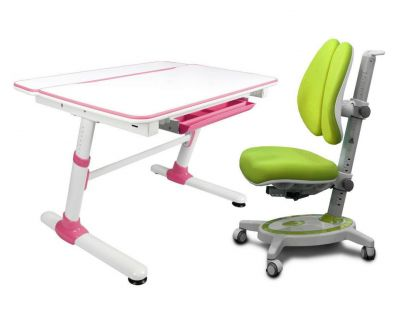Комплект Mealux Парта трансформер Duke с креслом Stanford Duo и прозрачной накладкой на парту 65х45