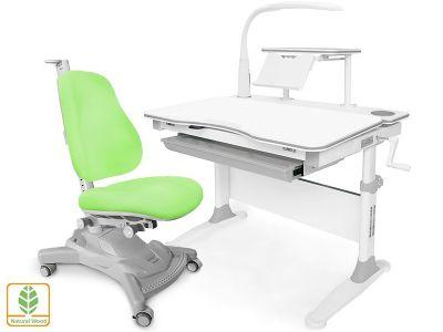Комплект парта и кресло Mealux EVO-30 + Y-418 (с лампой) (дерево)
