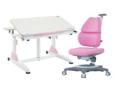 Комплект TCT Nanotec Парта G2-XS с компьютерным креслом Ego (Ergo-Elite) и прозрачной накладкой на парту 65х45