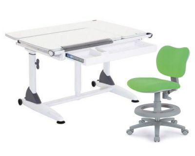 Комплект TCT Nanotec Парта G6+S (2 ГАЗ-ЛИФТА) с с креслом KIDS CHAIR и прозрачной накладкой на парту 65х45