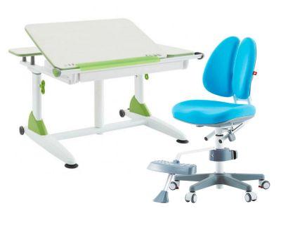 Комплект TCT Nanotec Парта G6+XS с ортопедическим креслом Orto-Duo и прозрачной накладкой на парту 65х45