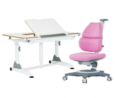 Комплект TCT Nanotec Парта G7+S с компьютерным креслом Ego (Ergo-Elite) и прозрачной накладкой на парту 65х45