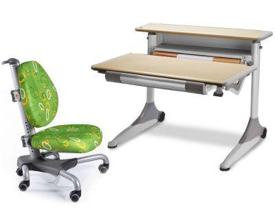 Комплект Mealux Стол Grand с креслом Nobel и прозрачной накладкой на парту 65х45