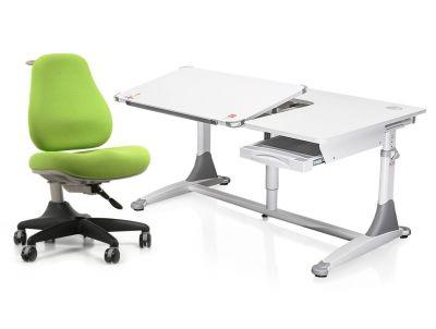 Комплект Comf-pro Парта King2 с креслом Match Chair (Матч) и прозрачной накладкой на парту 65х45