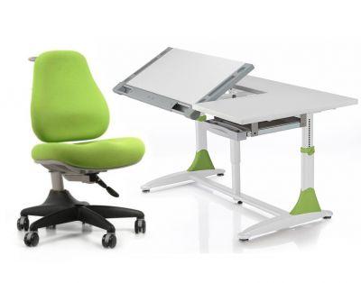 Комплект Comf-pro Парта King Desk с креслом Match Chair (Матч) и прозрачной накладкой на парту 65х45