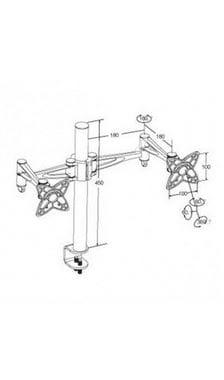 Настольный кронштейн для двух мониторов SmartStool T9