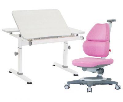 Комплект TCT Nanotec Парта M6+XS NEW с компьютерным креслом Ego (Ergo-Elite) и прозрачной накладкой на парту 65х45