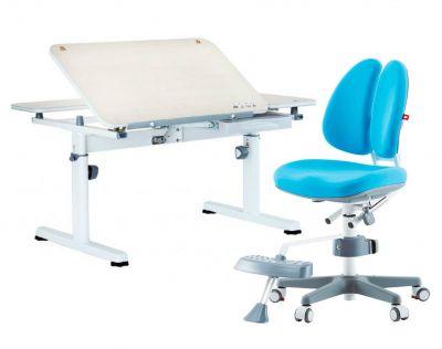 Комплект TCT Nanotec Парта R6-XS с ортопедическим креслом Orto-Duo и прозрачной накладкой на парту 65х45