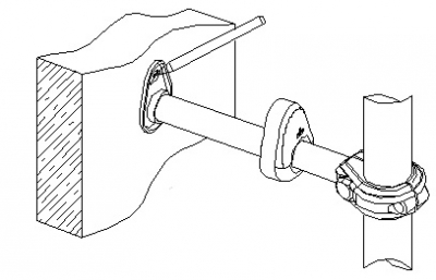 Кронштейн пристенный в сборе 1ДСК 42х25х250-01(комплект из 6 шт)