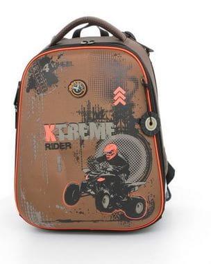 Коричневый ранец Hummingbird Xtreme Rider для мальчика (T19)