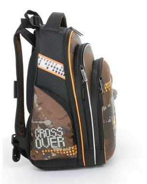 Коричневый ранец Hummingbird Crossover для мальчика (T30)