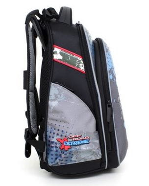 Серый ранец Hummingbird Offroad Extreme для мальчика (T39)