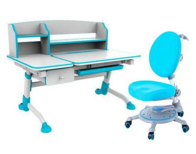 Комплект FunDesk Парта-трансформер Amare II с ящиком с креслом SST1 и прозрачной накладкой на парту 65х45