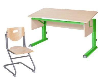Комплект Астек Парта МОНО-2 со стулом SK-2 и прозрачной накладкой на парту 65х45