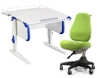 Комплект ДЭМИ Парта WHITE СТАНДАРТ СУТ-24-01 с креслом Match Chair и прозрачной накладкой на парту 65х45
