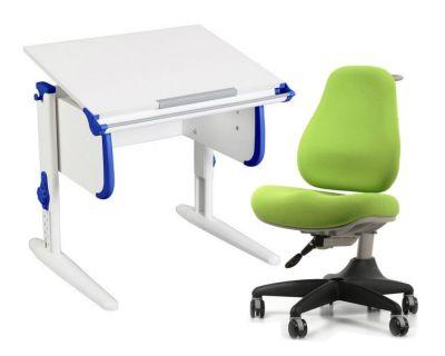 Комплект ДЭМИ Парта WHITE СТАНДАРТ СУТ 24 с креслом Match Chair и прозрачной накладкой на парту 65х45