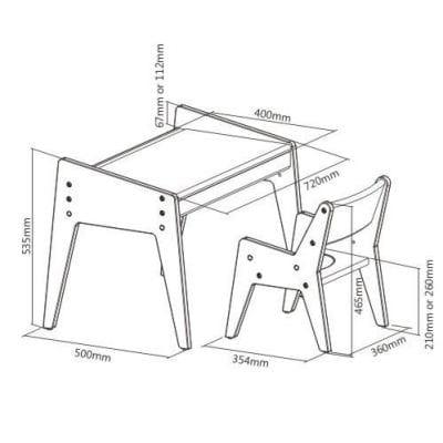 Детский стол и стульчик Fundesk Omino