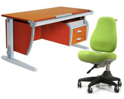 Комплект ДЭМИ Парта СУТ-15-03 120х55 см с креслом Match Chair и прозрачной накладкой на парту 65х45