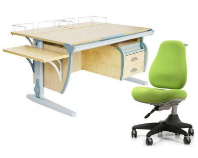 Комплект ДЭМИ Парта СУТ-15-05 120х55 см с креслом Match Chair и прозрачной накладкой на парту 65х45