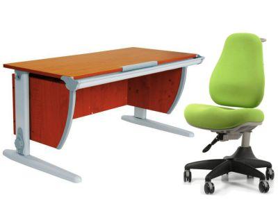 Комплект ДЭМИ Парта СУТ-15 120х55 см с креслом Match Chair и прозрачной накладкой на парту 65х45