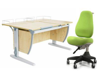 Комплект ДЭМИ Парта СУТ-17-01 120х80 см с креслом Match Chair и прозрачной накладкой на парту 65х45