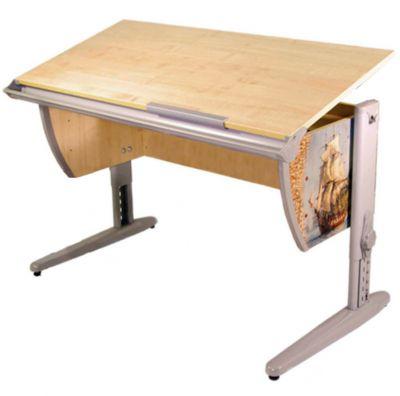 Комплект ДЭМИ Парта СУТ-15P 120х55 см с рисунком с креслом Stanford Duo и прозрачной накладкой на парту 65х45