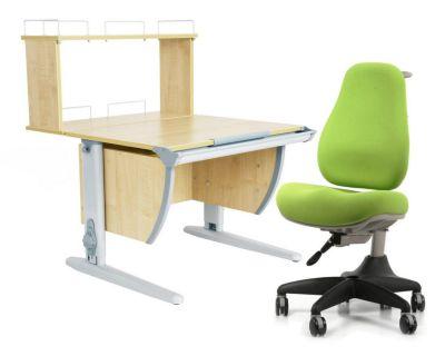 Комплект ДЭМИ Парта СУТ 14-01Д с креслом Match Chair и прозрачной накладкой на парту 65х45