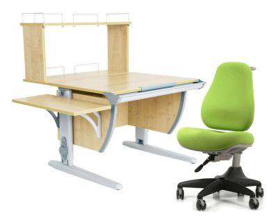 Комплект ДЭМИ Парта СУТ 14-02Д с креслом Match Chair и прозрачной накладкой на парту 65х45