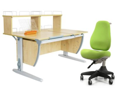 Комплект ДЭМИ Парта СУТ 17-01Д2 с креслом Match Chair и прозрачной накладкой на парту 65х45