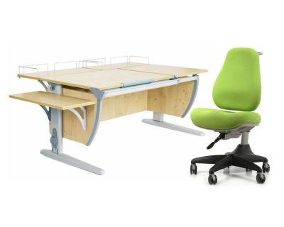 Комплект ДЭМИ Парта СУТ 17-02 с креслом Match Chair и прозрачной накладкой на парту 65х45