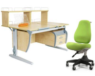 Комплект ДЭМИ Парта СУТ 17-04Д2 с креслом Match Chair и прозрачной накладкой на парту 65х45