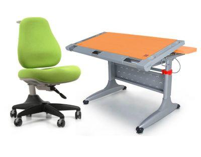 """Комплект Comf-pro Стол """"ТОКИО"""" (без ящика) с креслом Match Chair (Матч) и прозрачной накладкой на парту 65х45"""