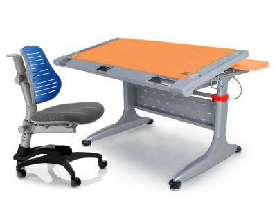 """Комплект Comf-pro Стол """"ТОКИО"""" (без ящика) с креслом """"Oxford"""" (Оксфорд) C3 и прозрачной накладкой на парту 65х45"""